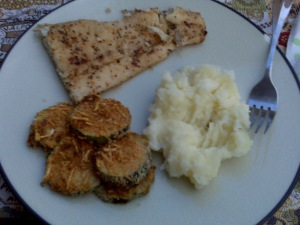 Served as a side with halibut and mashed potatoes